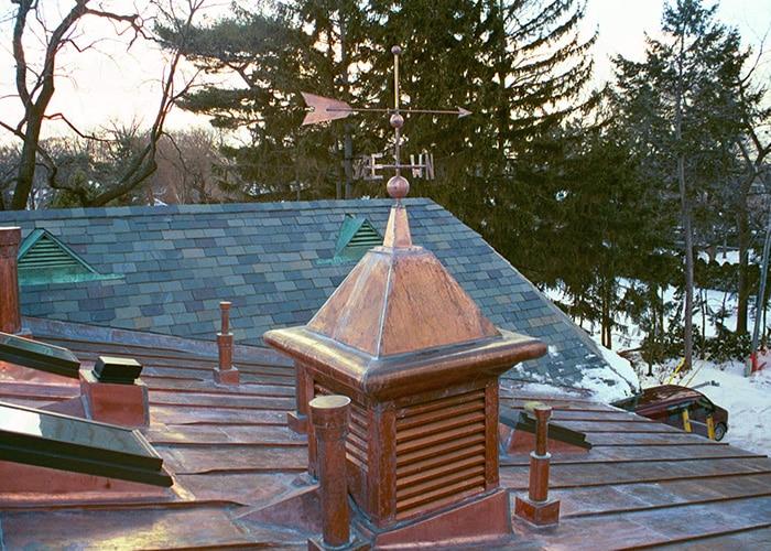 Custom roof - copper door vent