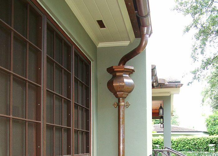 custom copper gutter downspout